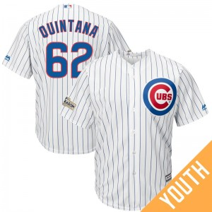 6cc9fd587e0 Youth Jose Quintana Chicago Cubs Replica White 2017 Postseason Cool Base  Jersey by Majestic